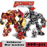 Iron man Marvel Hulkbuster War Machine Hulk klocki superbohaterowie wojna w nieskończoności Avengers dzieci dzieci zabawki prezenty