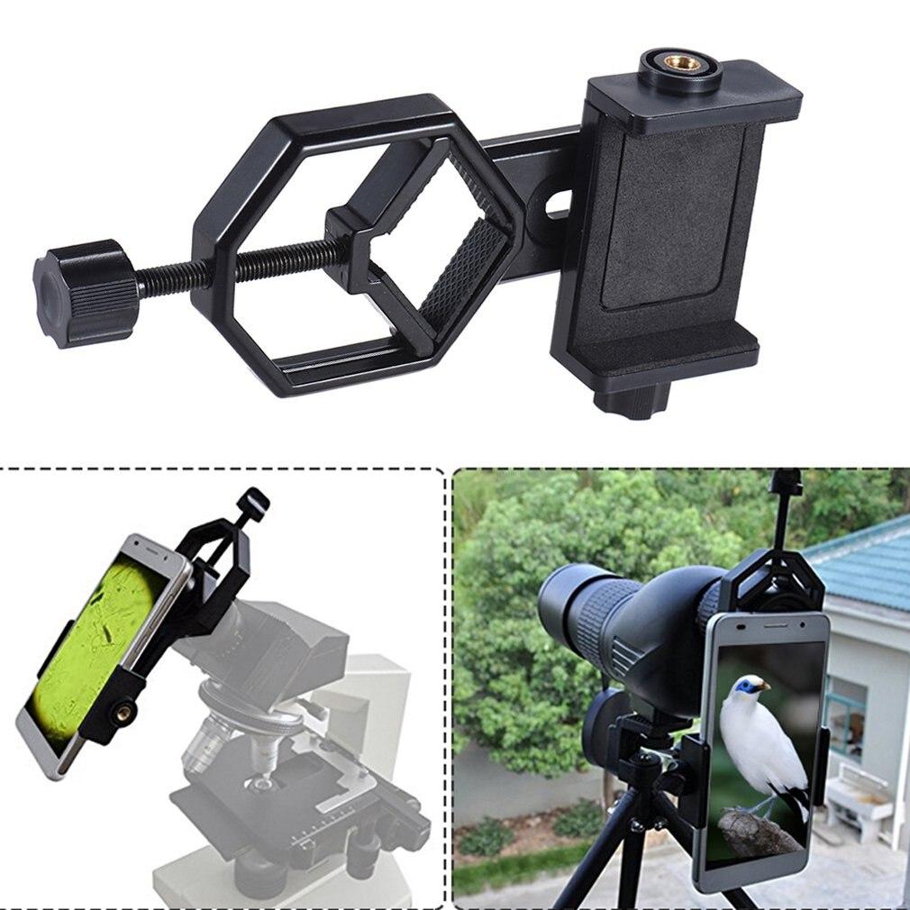 Adaptateur de montage pour télescope support pour téléphone portable réglable Clip de support pour Microscope télescope pour Iphone 7 Plus/7/6 S/6 Plus