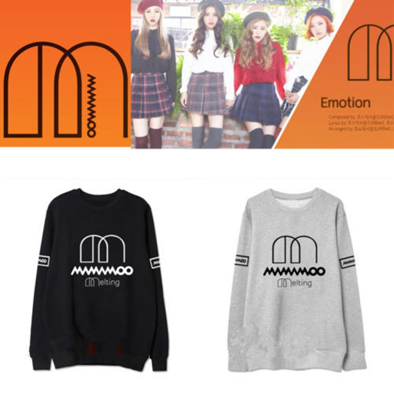 KPOP MAMAMOO With The Same Sweater Loose Spring And Summer Sweaters Men And Women Couple Cotton Dropshipping