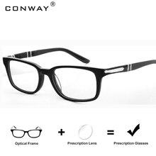CONWAY Prescription Reading Glasses Eyeglasses Full Rim Rectangular Customized Rx Single Vision Multifocal Progressive FDA Approved Lenses Europe Style
