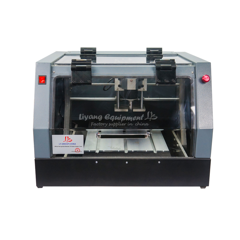LY <font><b>3020</b></font> <font><b>CNC</b></font> <font><b>Router</b></font> engraver ballscrew 320W spindle all-in-one full enclosed <font><b>cnc</b></font> Engraving milling Machine with laser head image