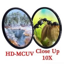 KnightX MCUV UV colse עד מאקרו עדשת מצלמה מסנן 49 52 55 58 62 67 72 77 mm צילום טלפון dslr צבע עבור canon סוני ניקון