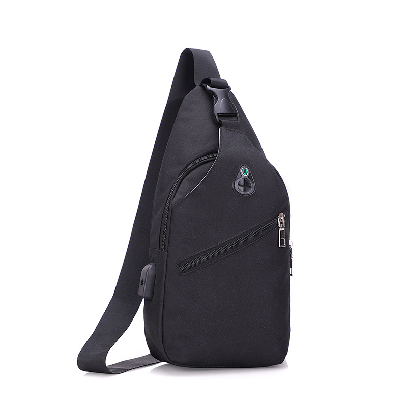Chest Pack Men's Korean-style Fashion Canvas Casual Bag Outdoor Backpack Fashion Men Shoulder Bag Wallet