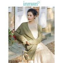 INMAN литературный ретро корейский Модный повседневный Универсальный тонкий женский кардиган