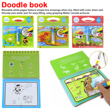 New Coloring Book Magic Water Drawing With Doodle Painting Board 6 Color Toys For Children