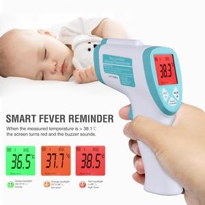 Image 1 - Цифровой термометр для взрослых, инфракрасный термометр для лба, тела, пистолет, бесконтактный термометр для измерения