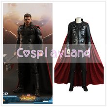Avengers Infinity War Thor Cosplay Costume Carnival Halloween Costumes Superhero Thor Costume Cosplay Avengers 3 Suit With Boots Custom Made