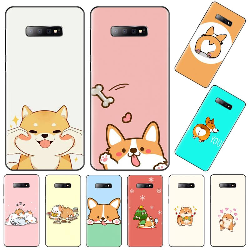<font><b>Funny</b></font> Cute Dog DIY Painted Bling Phone <font><b>Case</b></font> For <font><b>Samsung</b></font> Galaxy S8 S9 S10 Plus Lite S10E <font><b>Note</b></font> 3 4 5 6 7 8 <font><b>9</b></font> 10 Pro cover image