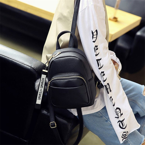 Image 5 - Miyahouse Women Soft PU Leather Mini Backpacks Students Fuzzy Ball Pendant Shoulder Schoolbags Fashion Small Travel Bags Mochila