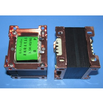 FU50 6P3P EL34 3.5K / 4Ω 8Ω amplifier single-ended output transformer, Z11 material EI66 iron core, 38Hz-70KHz -3db image