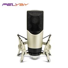 FELYBY MK4 מקצועי הקבל מיקרופון למחשב משחקי קריוקי חי סטודיו מיקרופון