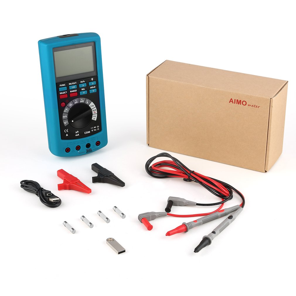 2 in 1 High Accuracy Mulitifuction Process Calibrator & DMM Digital MultiMeter With 24V Loop Supply Low Battery Display|Multimeters|   - AliExpress