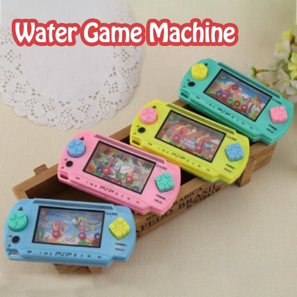 1pcs Plastic Water Circle Ring Machine Nostalgic Childhood Classic Nostalgic Children's Water Game Machine Kid Toy