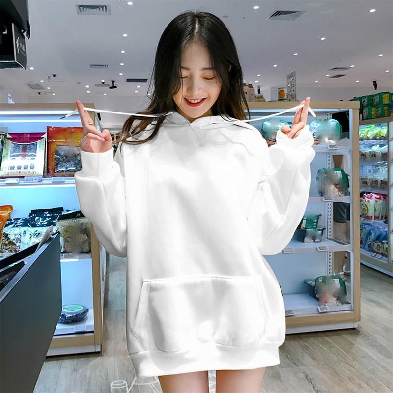 Fashion Tracksuit Solid Hoodies Loose Autumn Women Sweatshirts Jumper Long Sleeve Pullover Female Thickening Nice Korea Tide