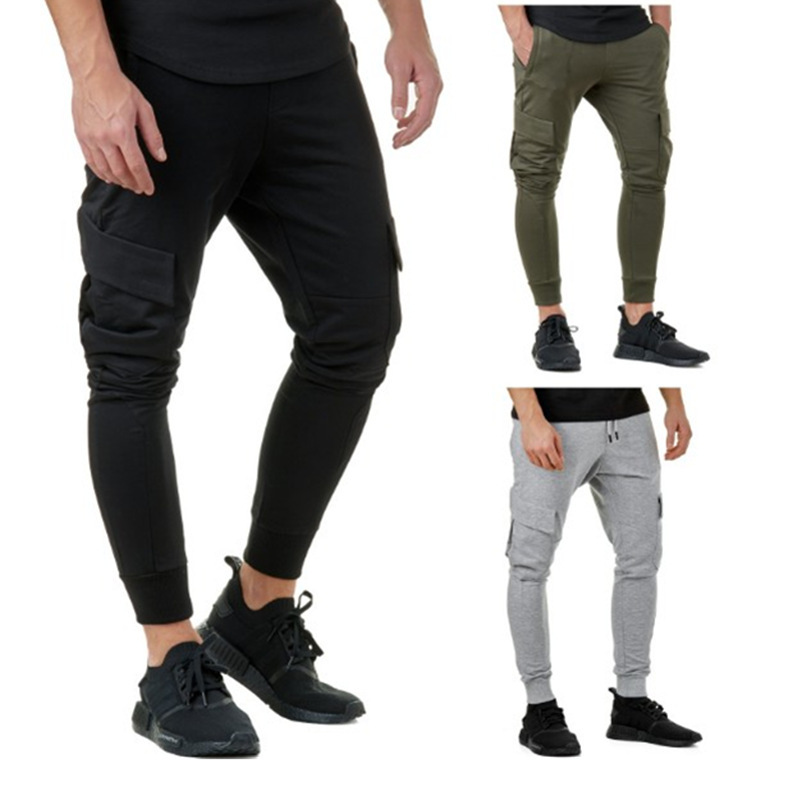 2018 New Products Hot Selling AliExpress Men Casual Sports Fitness Trousers Men Hip Hop Slim Fit Athletic Pants Men's