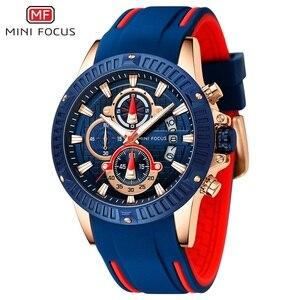 Image 4 - MINI FOCUS Mens Watches Top Brand Luxury Fashion Sport Watch Men Waterproof Quartz Relogio Masculino Silicone Strap Reloj Hombre