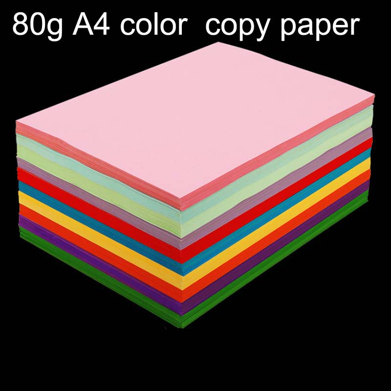 100 Sheets Colorful Copy Paper 80G A4 Print Copy Paper Hand-off Drawing Paper Office Supplies Colored Paper