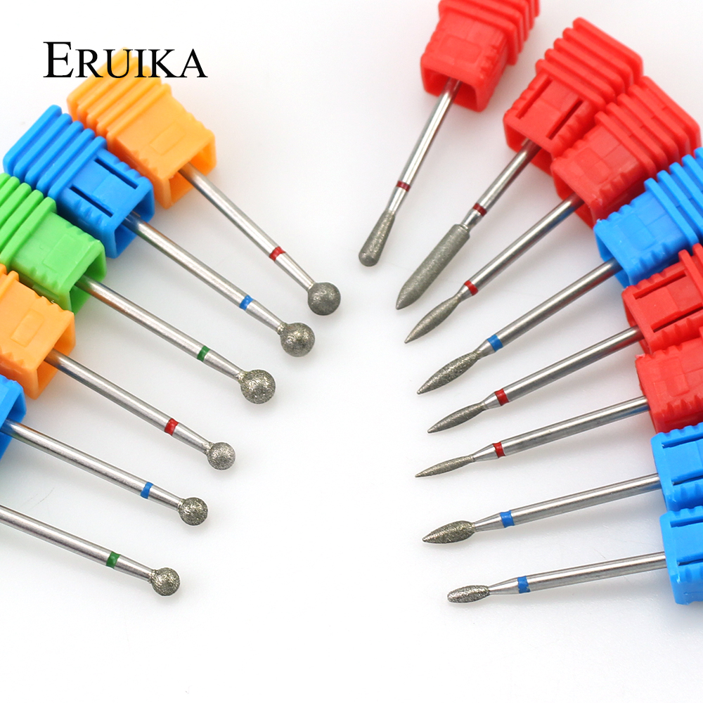 1PCS Diamond Nail Drill Burr Electric Ball Bits Nail Milling Cutter Manicure Drill Nail Clean Rotary Tools Drill Accessories