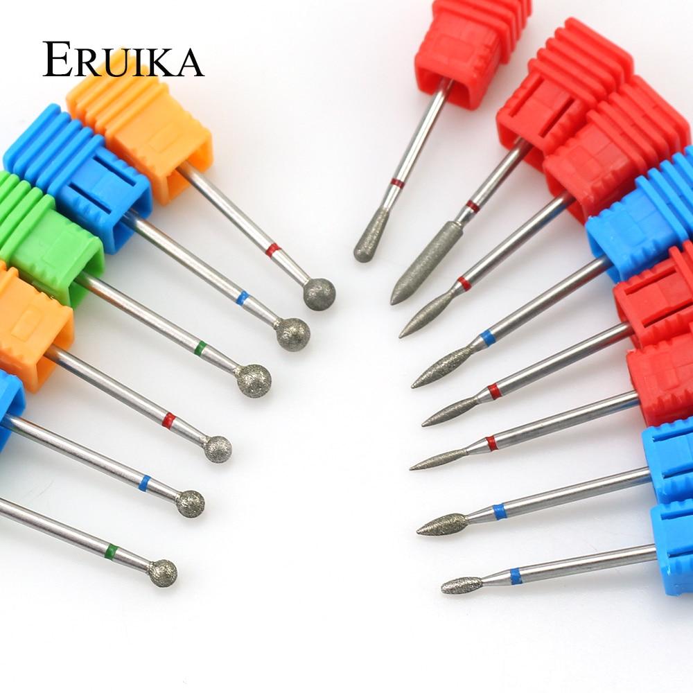 1PCS Diamond Nail Drill Burr Electric Ball Bits Nail Milling Cutter Manicure Drill Nail Clean Rotary Tools Drill Accessories