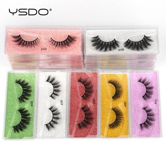 YSDO Eyelashes Wholesale 10/20/50/100 PCS 3d Mink Eyelashes Natural Mink Lashes Wholesale False Eyelashes Makeup Lashes In Bulk 3