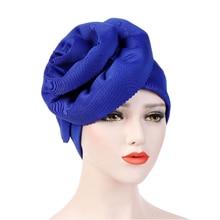 2020 muculmano feminino grande turbante chapéu elegante festa cabeca envoltorio câncer quimio beanies osso ace