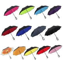 Double-Layer Reverse Umbrella Lazy Anti-Splashing C Handle Free Car Waterproof Straight