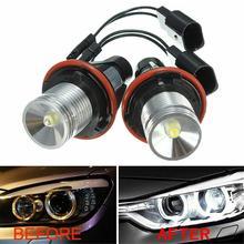 цена на 2pcs 6000K Angel Eyes Halo 20W CRE LED Ring Marker Bulbs For BMW X5 E39 E60 E63 E61 Automotive LED headlights Fast delivery CSV