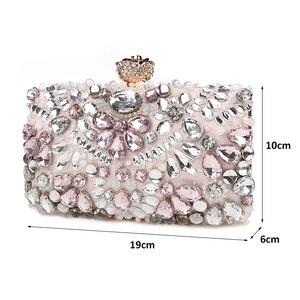 Image 3 - Luxy Moon pochette de soirée pour femmes, pochette strass, sacs à main pour dames, sacs à main avec portefeuille de fête de mariage, ZD848