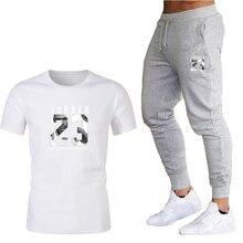 Boutique men's suit T-shirt pants two-piece wholesale