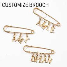 Name Letter Brooch