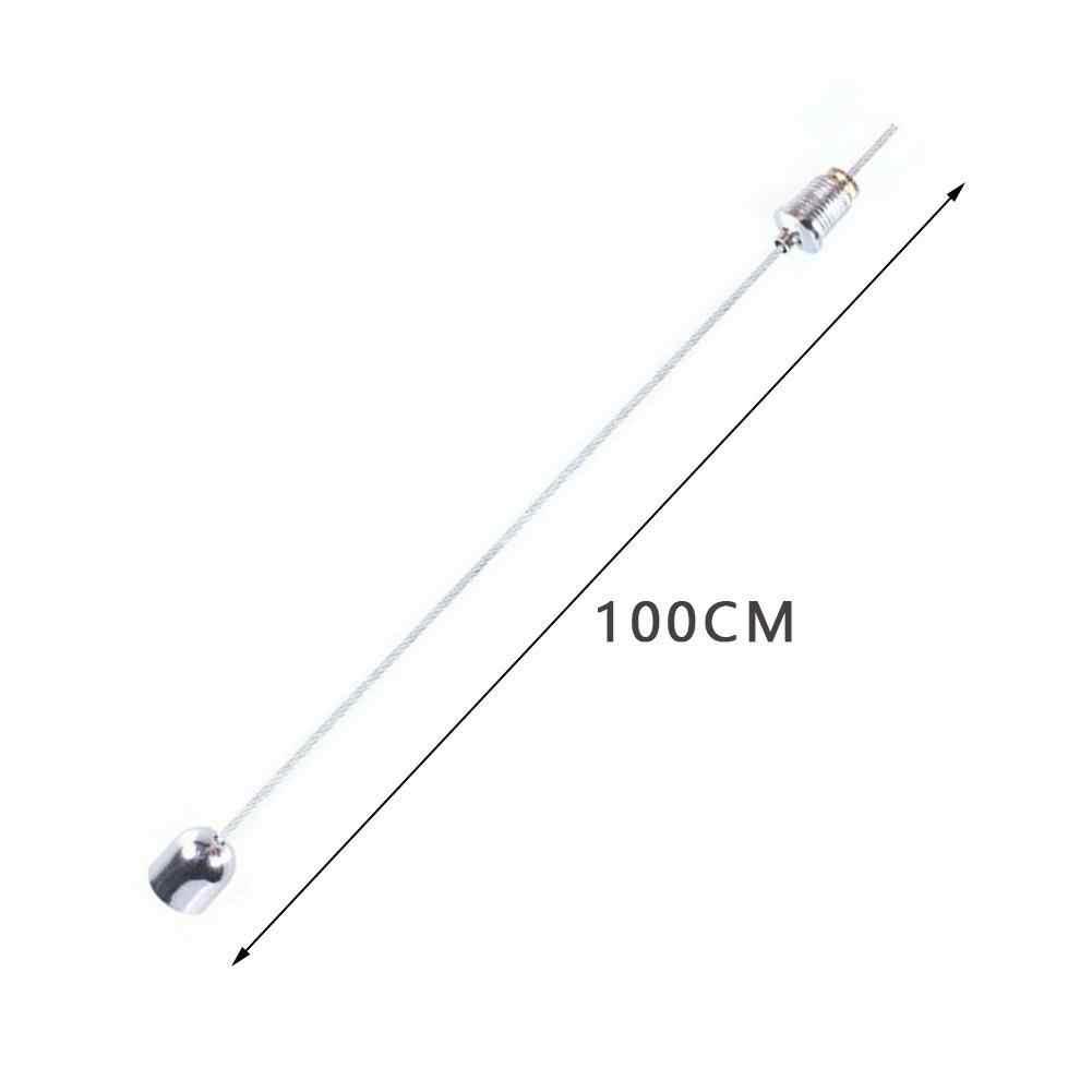 1m פלדה חוטים וברגים השעיה הרכבה חוט ערכת חבל Led מתכוונן אורות תקרת מנורת תליית חוט אבזרים