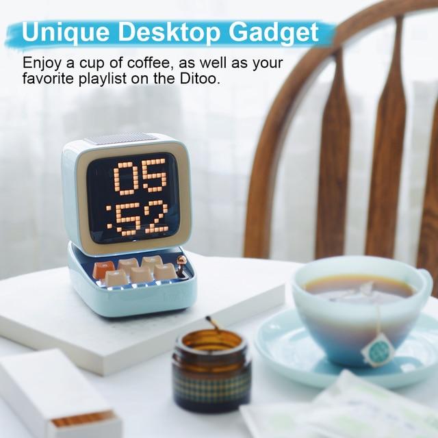 Divoom Ditoo Retro Pixel art Bluetooth Portable Speaker Alarm Clock DIY LED Screen By APP Electronic Gadget gift Home decoration 5