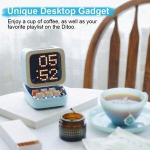 Image 5 - Divoom Ditoo Retro Pixel art Bluetooth altoparlante portatile sveglia tabellone LED fai da te, decorazione della luce della casa regalo di capodanno