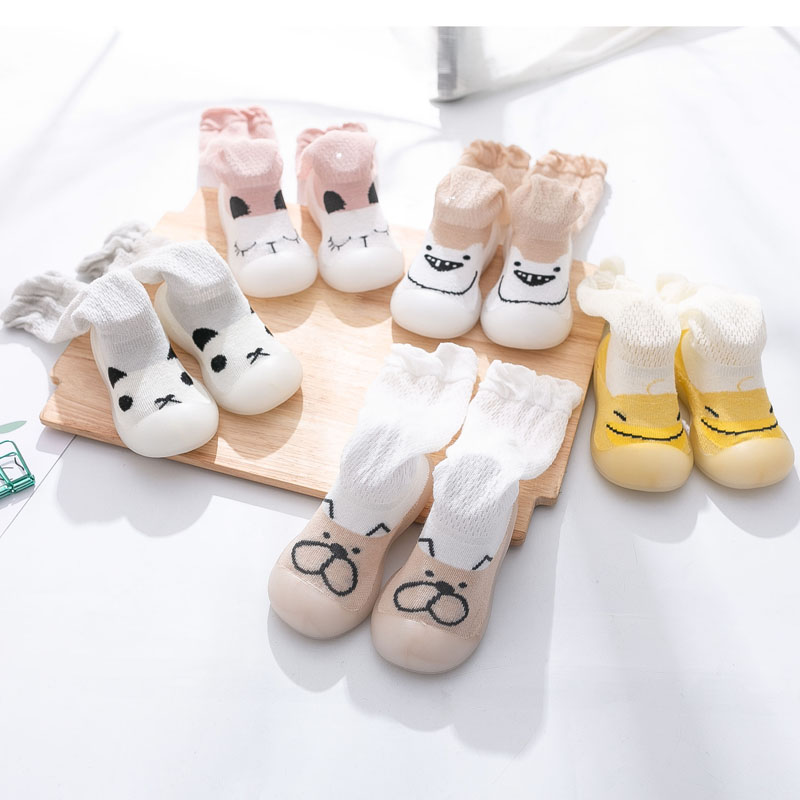Verão bebê menina anti-mosquito meias sapatos bonito