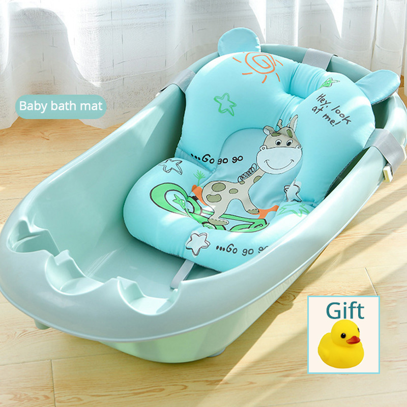 Infant Baby Bath Pad NewBorn Shower Portable Air Cushion Bed Babies Non-Slip Bathtub Mat Safety Security Bath Seat Support