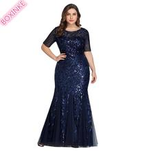 2019 Mesh None Dress Sale Polyester Ukraine Vadim Vestidos Mujer Euro-american With Large Size Beaded Gauze And Fish Tail