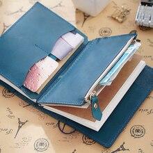 Carte porte fichiers en cuir véritable, sac de rangement à fermeture éclair, accessoire en cuir de vache, pour carnet de notes, planificateur de croquis