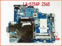 LA-5754P para Lenovo Z565 G565 Notebook G565 Z565 laptop motherboard NAWE6 LA-5754P DDR3 Com interface HDMI 100% testado