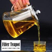 Economic Kettle Glass Drinks Home Tea Utensils Fruit Juice Tea Pot Coffee Restaurant Teapot Strainer Water Kitchen