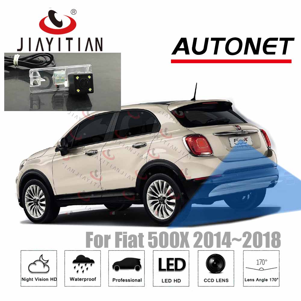 JIAYITIAN Rear View Camera For Fiat 500X 500x 2014 2015 2016 2017 2018 Ccd HD Night Vision Backup Parking Reverse Camera