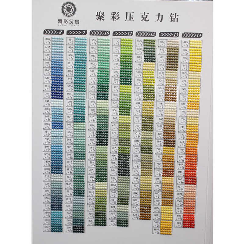 Carré complet/rond perceuse bricolage à la main 5D diamant peinture outil 447 DMC diamant couleur carte strass couleur carte d'identification