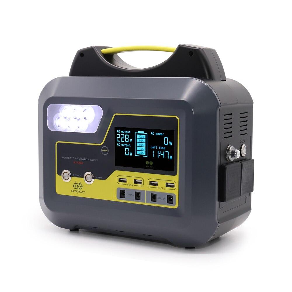 BOSSCAT AY-006 500W générateur de batterie externe portatif extérieur de centrale électrique UPS avec la batterie détachable de sortie d'usb de cc à ca