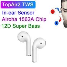 Беспроводные наушники TopAir2 TWS 12D Super Bass Bluetooth наушники HD Mic Аудио Shaing PK i500 TWS i99999 Plus I90000 MAX TWS
