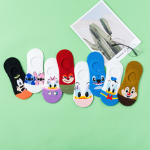 New personality cartoon socks Fashion wild street trend invisible boat Cotton casual women