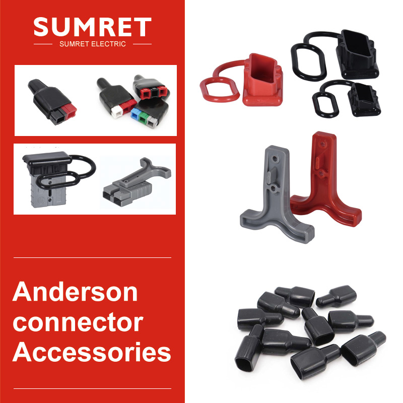 PP30 PP45 Anderson Connector Plug Sheath Rubber Sleeve Harness Cover Dust Protection Plug Handle 50A 120A 175A 350A