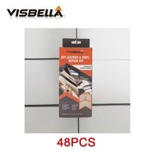 Visbella 48pcs Liquid Skin DIY Leather Vinyl Restore Tools Repair Kit For Sofa Coats Hole Crack Rip Auto Car Care