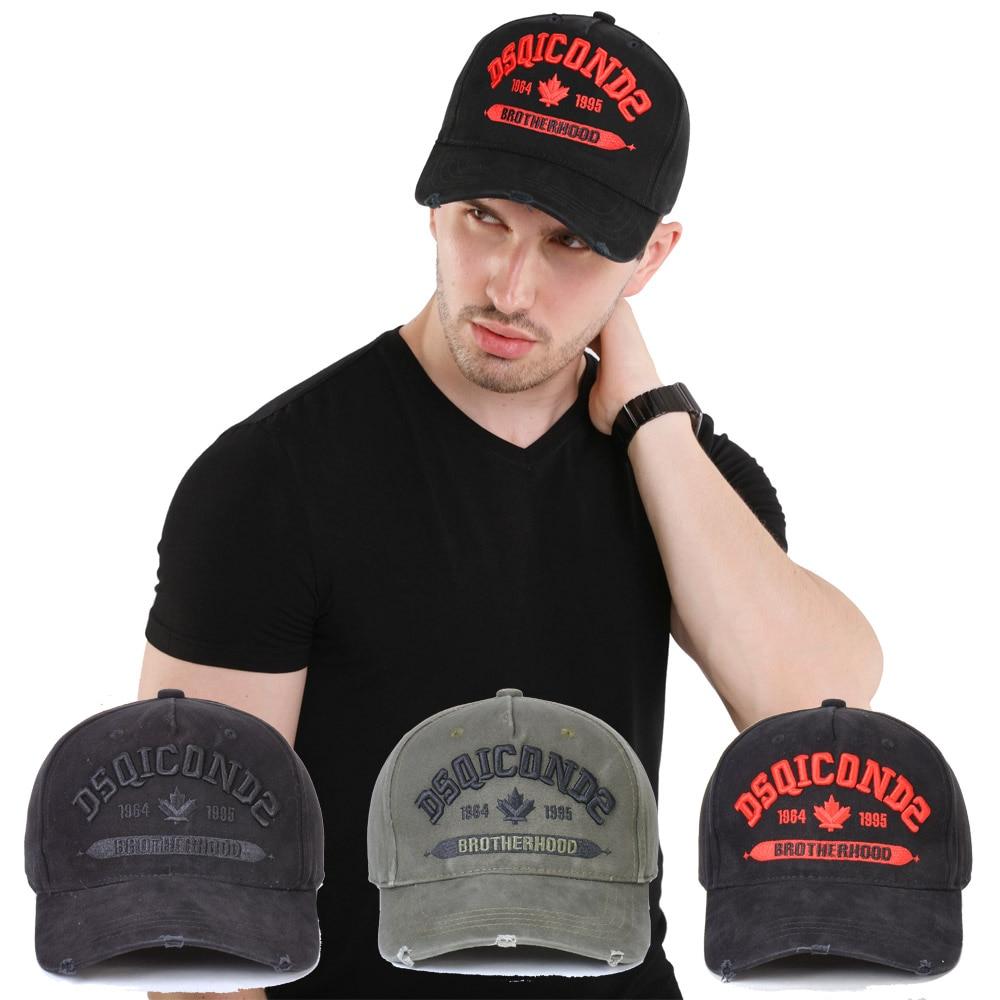 DSQICOND2 Brand 2019 Baseball Cap Men Women Hat Black Embroidery DSQ2 Letters Casual Cap Hip Hop Cap Snapback Caps Bone Dad Hat