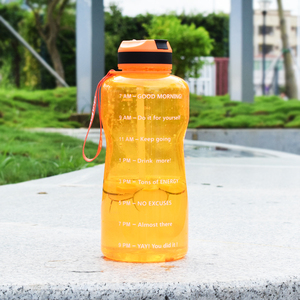 Image 4 - BuildLife 1.3L 2L Tritan Water Bottle With Straw Time Marker BPA Free Sports Fitness Jug Outdoor Gym Insulation Bottles