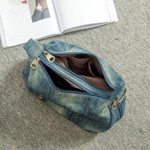 Image 5 - Rdywbu Washed Denim Women Shoulder Bag Casual Vintage Jeans High Quality Big Crossbody Bag Large Tote Handbag Mochila Bolsa B225