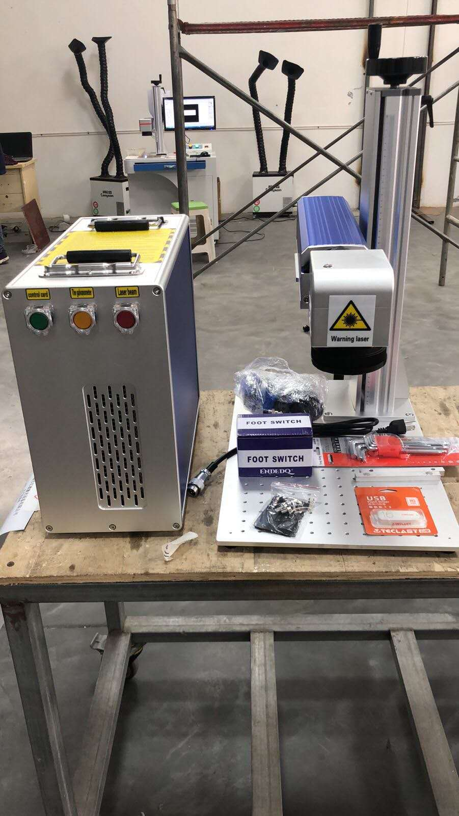 30W MAX Raycus And JPT Fiber Laser Marking Machine With 200-200mm Working Table 8